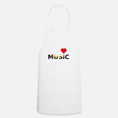 Cuore love music idea regalo creativo - Schürze