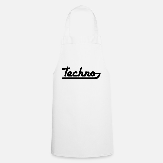 Raver Aprons - Techno Text - Apron white