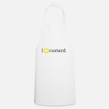 I love custard or I heart custard - Apron