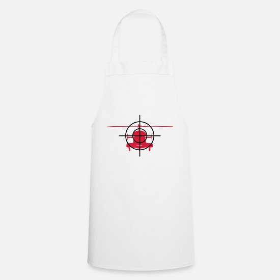 Crosshair Aprons - Heli in the crosshairs - Apron white