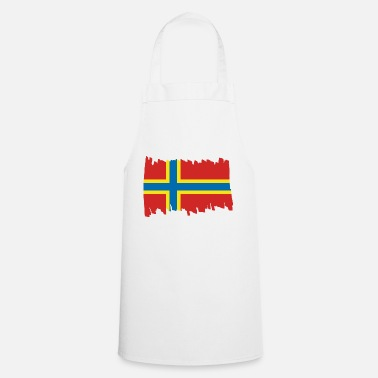 North Sea Orkney Islands National Flag - brush vertical - Apron