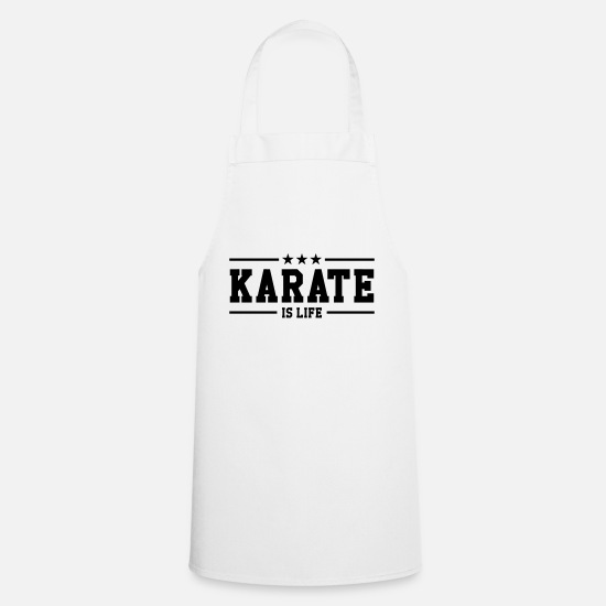 Karate Esiliinat - Karate is life - Esiliina valkoinen