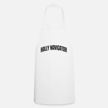 rally navigator stylish arched text logo - Apron