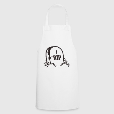 grave stone - Cooking Apron