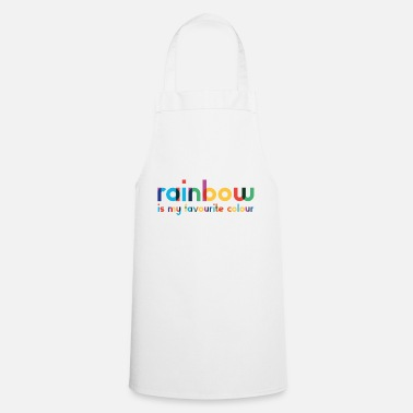 Rainbow - Favorite Color - Typography - Apron