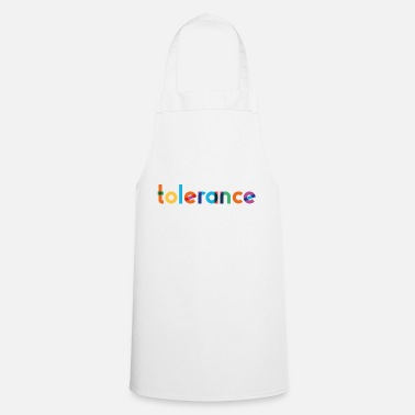 Tolerance - Rainbow Typography - Apron