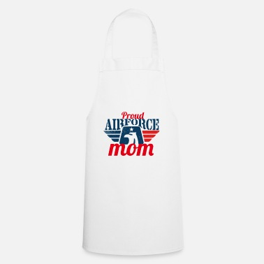 Airforce proud airforce mom - Apron