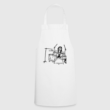 Funky Lovely Mrs Sheila on the drums - Cooking Apron