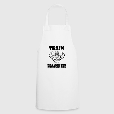 Train Harder, Bodybuilder Dog - Bulldog - Training - Cooking Apron