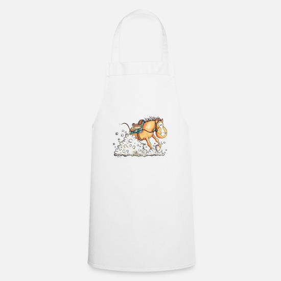 Western Riding Aprons - Sliding Stop Western horse - Apron white
