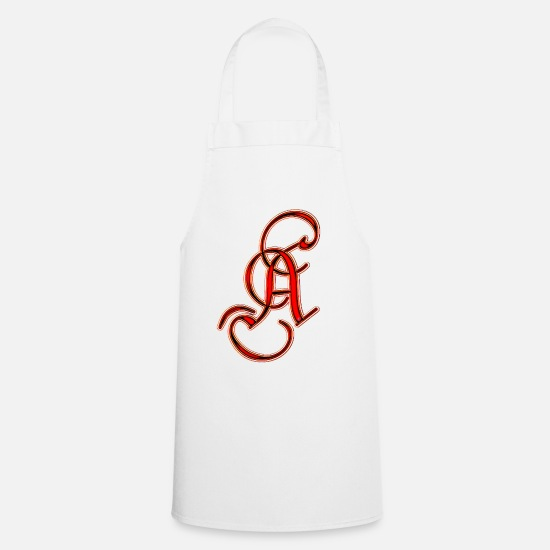 Beautiful Aprons - Letter - Apron white