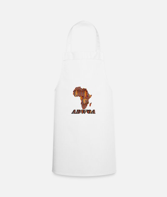Gold Aprons - Call me by my name ! ADWOA Ghana - Monday. - Apron white