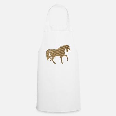 Hoof Horse in Brown Squares - Apron