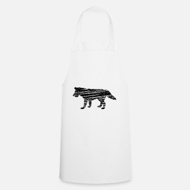Line Drawing wolf - Cooking Apron