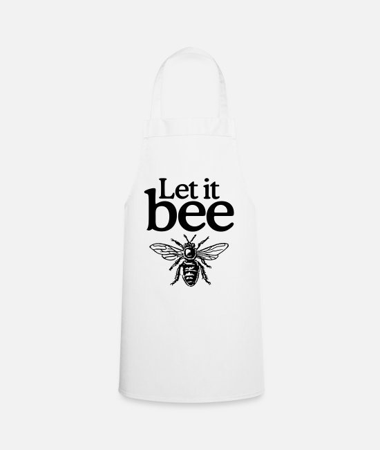 Quote Aprons - Let it bee - Apron white