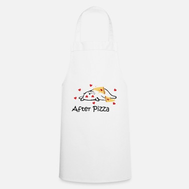 Pizza Hongerige Cat Fast Food Italië Gift - Schort