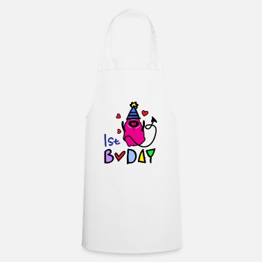 Bday 1st bday monster - Apron