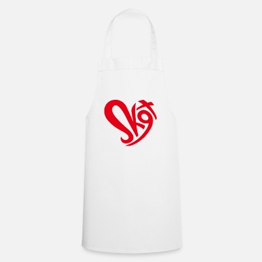 Salzkammergut heart red - Apron