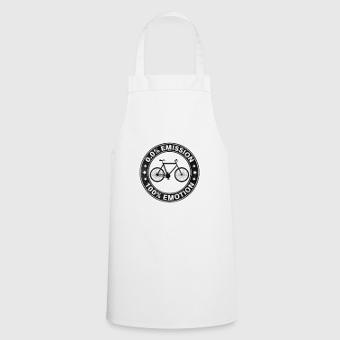0% Emission 100% Emotion Funny Bicycle Shirt - Cooking Apron