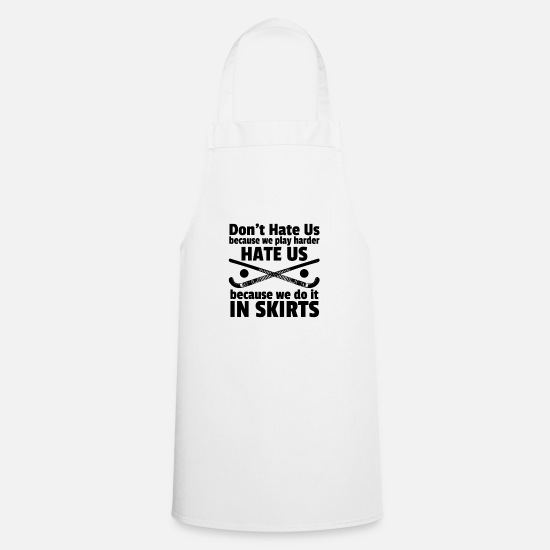 Field Hockey Aprons - Field Hockey Play in Skirts - Apron white