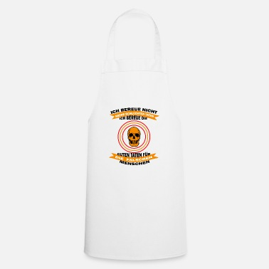 Macho Skull Shirt • Bad Deeds • Gift - Cooking Apron