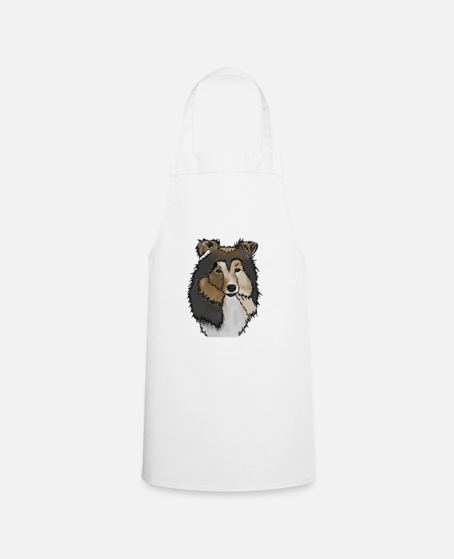 Rough Collie Aprons - Longhair Collie Mama | Collie Rough Collies - Apron white