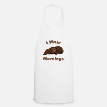 I hate the morning - Apron