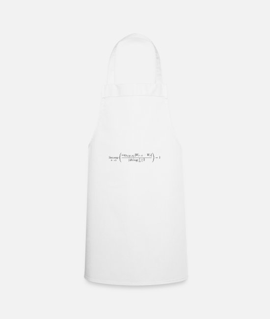 Maths Aprons - limsup Wiener process - Apron white