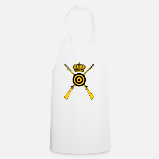 Old Fashioned Aprons - shooting muzzleloader - Apron white