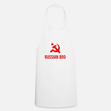 Russian russian bro russian brother - Cooking Apron