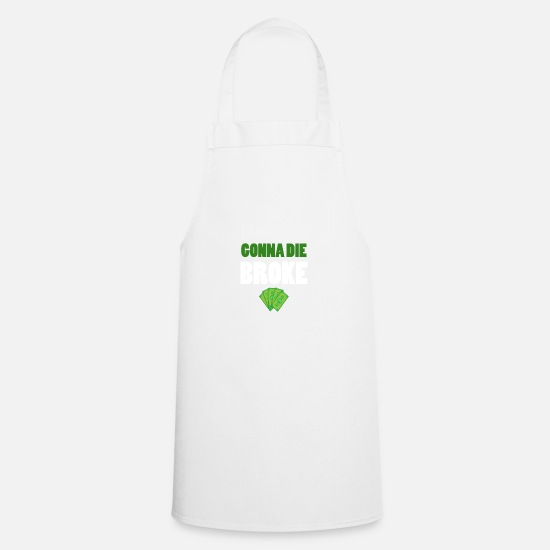 Moneygrubbing Aprons - Money -Money - Apron white