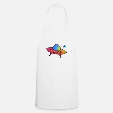 Scifi UFO, flying saucer, spaceship, scifi - Apron