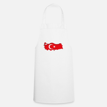 Geographic Turkey flag in geographic form - Apron