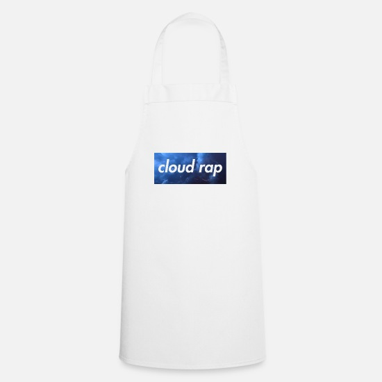 Rap Aprons - cloud rap - Apron white