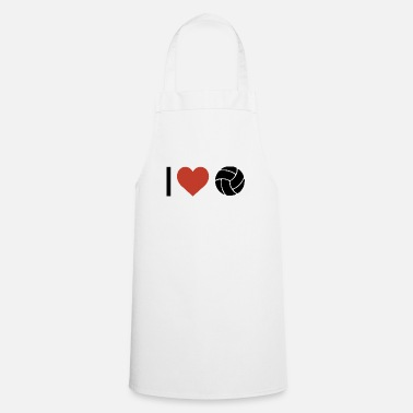 Sport I heart volleyball sport - Apron