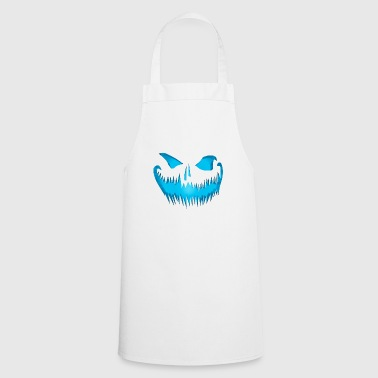 Evil pumpkin face look devil face - Cooking Apron