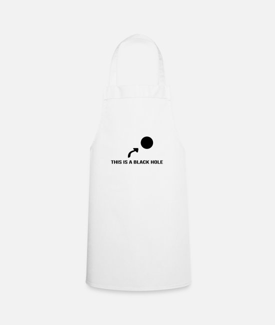 Arrow Aprons - Black hole - Apron white