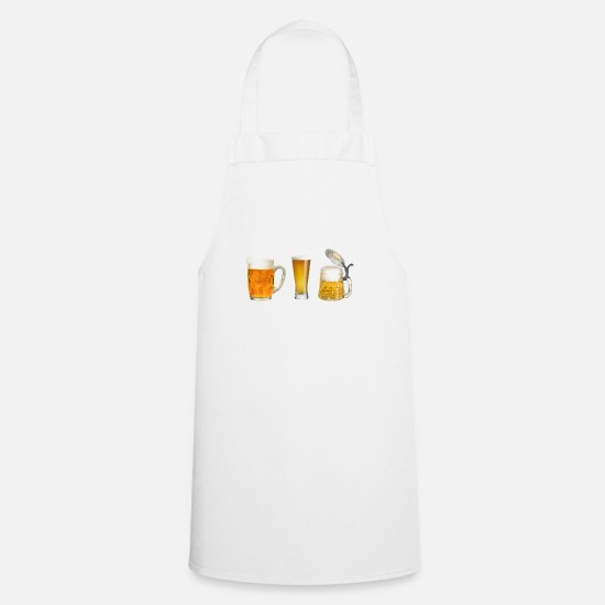 Alcohol Aprons - beer glasses - Apron white