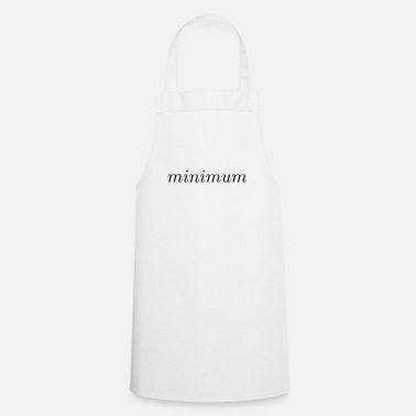 Minimum minimum - Tablier de cuisine