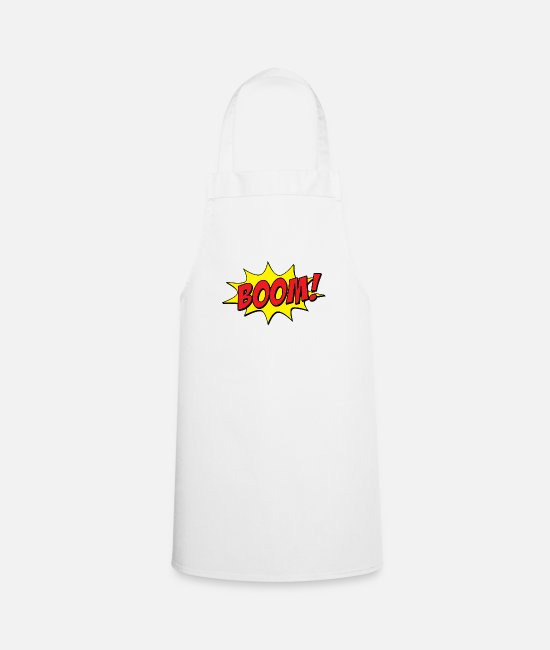 Cartoon Character Aprons - comic - Apron white