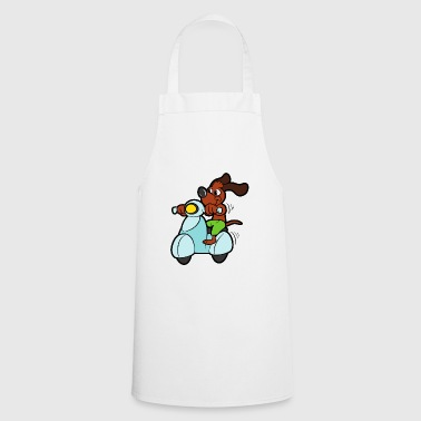 Bone Cool cute dog motorcycle scooter moped - Cooking Apron