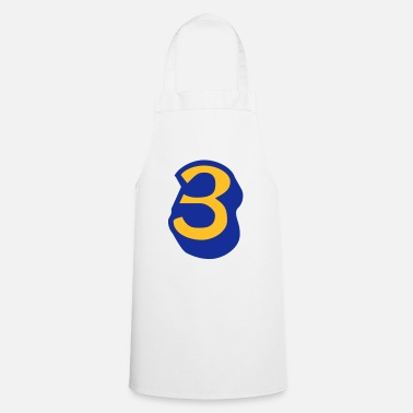 Lucky Number ★Cool Number Three 3-Best Jersey Uniform Number★ - Apron