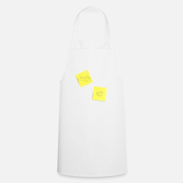 Note Clue I love you, sticky notes, sticky notes, notes - Cooking Apron