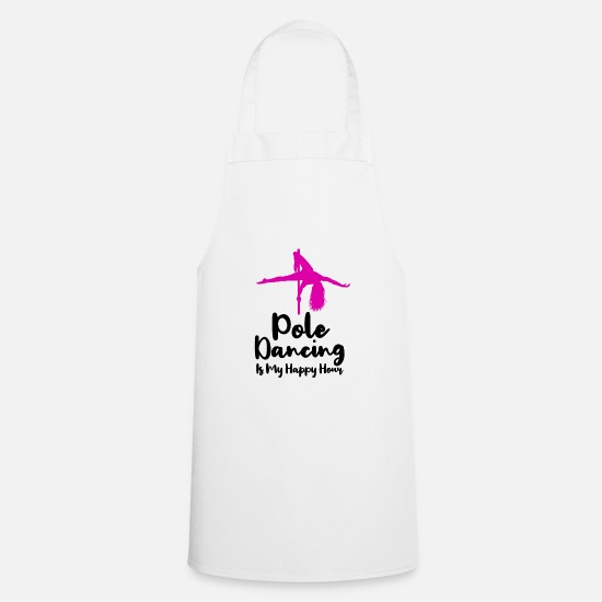 Pole Dance Aprons - Pole Dance Shirt Stripper Burlesque Gift - Apron white