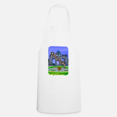 Recreational Brussels cheering park recreation Belgium - Cooking Apron