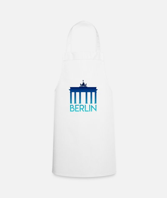 State Capital Aprons - BERLIN souvenir gift idea - Apron white