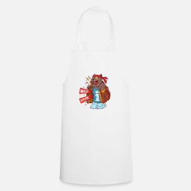 Masculinity Wolf with current attributes of masculinity - Apron