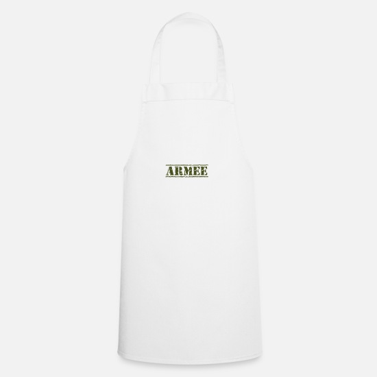Gift Idea Aprons - army - Apron white