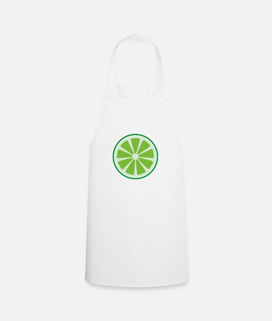 Bless You Aprons - lime - Apron white