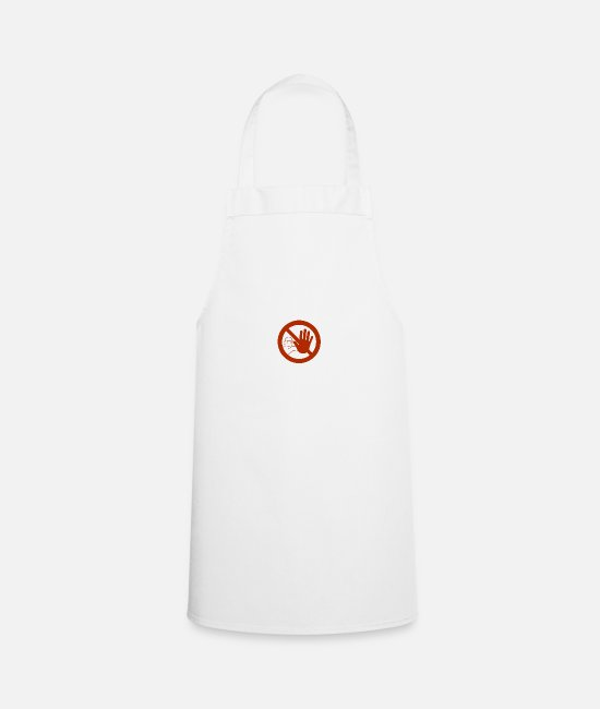 Careful Aprons - Caution sign - Apron white